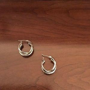 Lia Sophia silver hoops